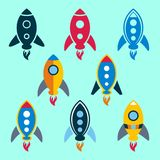Rocket icons Royalty Free Stock Photography