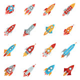 Rocket Icons Set Stock Photos
