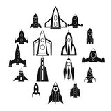 Rocket icons set, simple style. Rocket icons set in simple style for any design Royalty Free Stock Photo