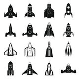 Rocket icons set, simple style. Rocket icons set in simple style for any design Stock Images