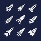 Rocket icons set Royalty Free Stock Photo