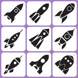 Rocket icons Royalty Free Stock Images
