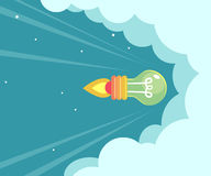 Rocket Idea concept. Royalty Free Stock Photo