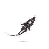 Rocket-Ikone oder -spaship Stockfoto