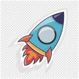 Rocket-Ikonenillustration Gegenstand zur Website oder zum infographics Lizenzfreie Stockfotografie