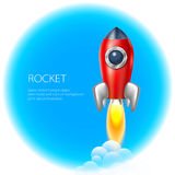 Rocket-Ikonenraum, Vektor, Illustration, Feuer, Symbol, Flamme, Karikatur, Stockfotos