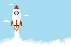 Rocket-Illustration Lizenzfreie Stockfotos