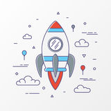 Rocket images. Space rocket launch, Science and shuttle, startup business, Project start up and development process. Innovation product. Vector illustration royalty free illustration