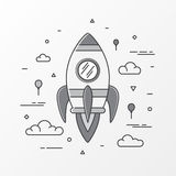 Rocket images. Space rocket launch, Science and shuttle, startup business, Project start up and development process. Innovation product. Vector illustration vector illustration