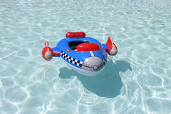 Rocket inflated boat for kids Stock Photos