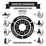 Rocket infographic concept, simple style Royalty Free Stock Photos