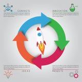 Rocket Infographic Template stock de ilustración