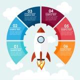 Rocket-Informationgraphik Stockbilder
