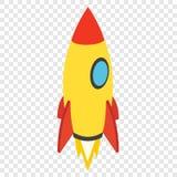 Rocket isometric 3d icon royalty free illustration