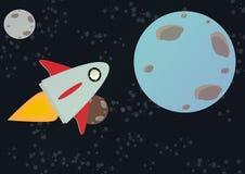 Rocket journey. Illustration rocket on a journey royalty free illustration