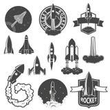 Rocket labels set. Stock Photo