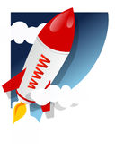 Rocket - lanzamiento de WWW Imagen de archivo