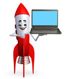 Rocket with Laptop Stock Photos