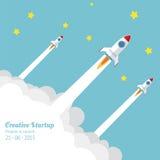 Rocket Launch Royalty-vrije Stock Afbeeldingen