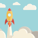 Rocket launch background Stock Photo