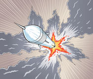 Rocket launch royalty free illustration