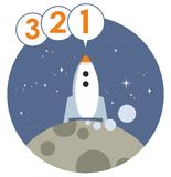 Rocket Launch Countdown Vector Graphic Royalty Free Stock Photography
