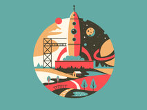 Rocket Launch Icon Image stock
