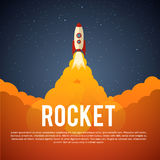 Rocket Launch Icon Vector illustratie Eps 10 Royalty-vrije Stock Afbeeldingen
