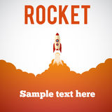 Rocket launch icon. Vector illustration eps 10 Stock Photos