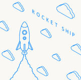 Rocket launch icon. Vector illustration eps 10 Stock Photography