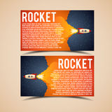 Rocket launch icon. Vector illustration eps 10 Royalty Free Stock Photo