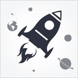 Rocket Launch Icon Stock Photos