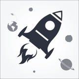 Rocket Launch Icon Stock Photos