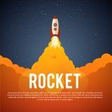 Rocket Launch Icon Vektorabbildung ENV 10 Lizenzfreie Stockbilder
