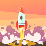 Rocket Launch Illustration Royalty Free Stock Image