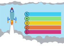 Rocket Launch Infographics Illustration lizenzfreies stockfoto