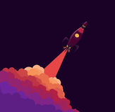 Rocket launch. Object vector. Bright Rocket launch. Object vector Stock Image