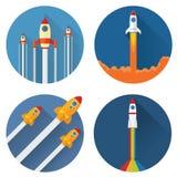 Rocket Launch Presentation Foto de archivo