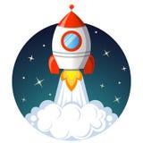 Rocket Launch Startkonzept Stockfoto