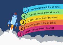 Rocket Launch Step Illustration stock photos
