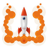 Rocket launch symbol of business startup Stock Photo