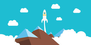 Rocket launch. To illustrate success in business or competition Royalty Free Stock Photo
