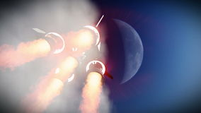 Rocket launch to the space footage