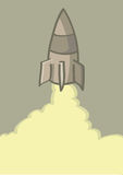 Rocket Launch Vector Cartoon Illustration Royalty Free Stock Photo