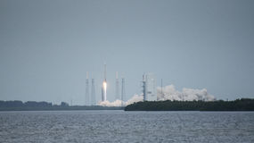 Rocket launch. A wide angle shot of the MAVEN  rocket launch at Cape Canaveral Stock Photo