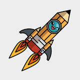 Rocket launcher character isolated icon. Vector illustration design Stock Photo