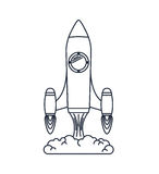 Rocket launcher isolated icon design Stock Photography
