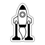 Rocket launcher isolated icon Royalty Free Stock Photography