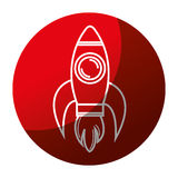 Rocket launcher isolated icon Stock Images
