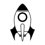 Rocket launcher isolated icon Royalty Free Stock Photo